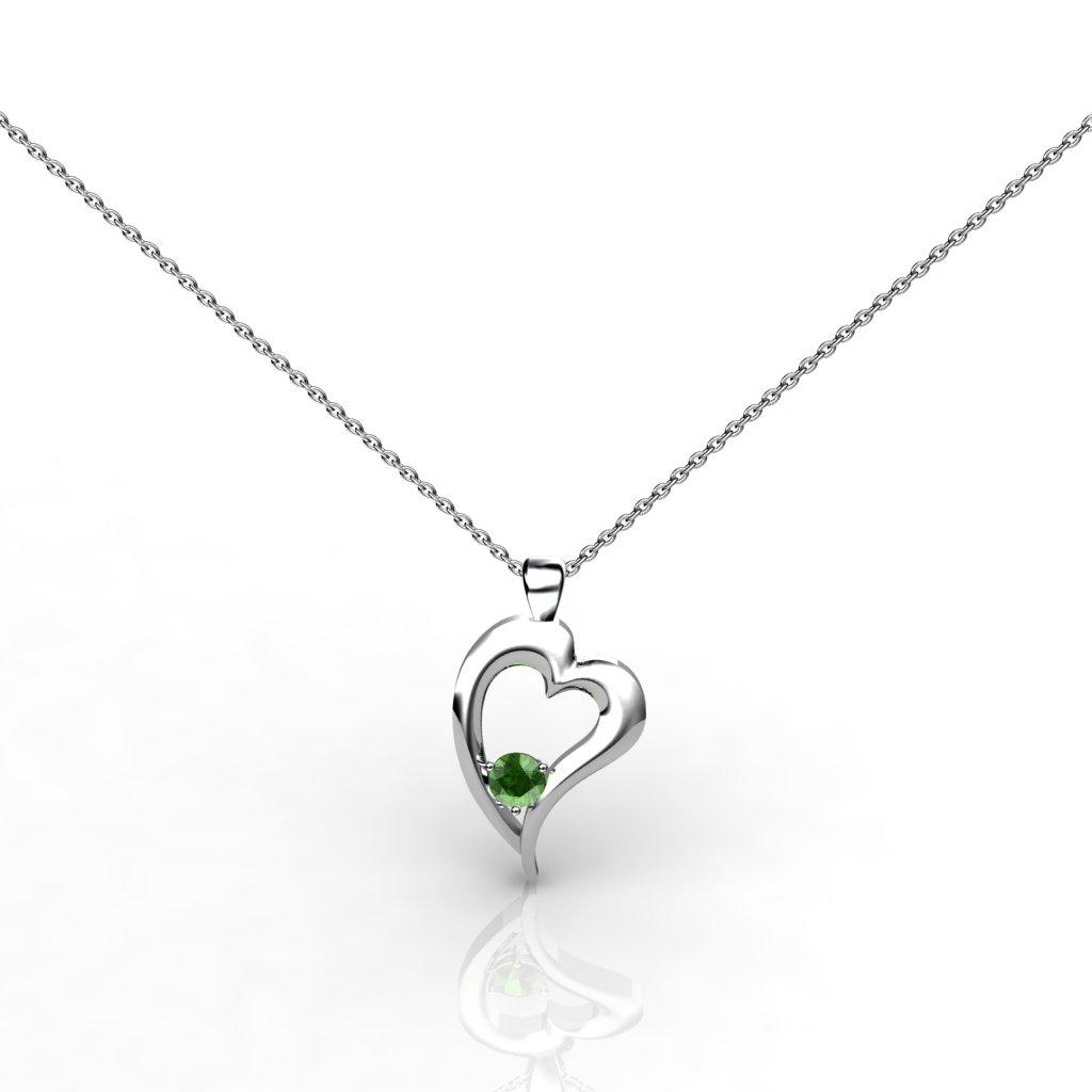 Heart Pendant - Peridot_image1)