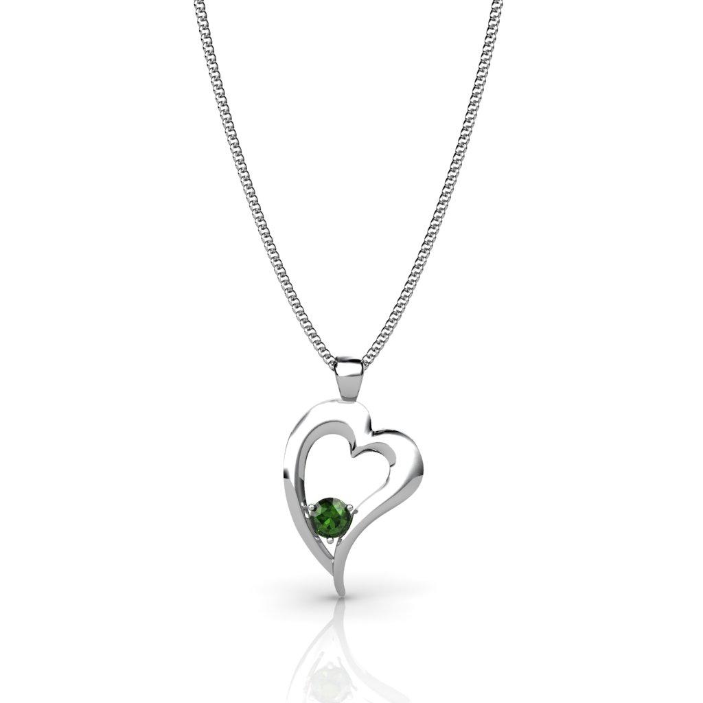 Heart Pendant - Peridot_image2)