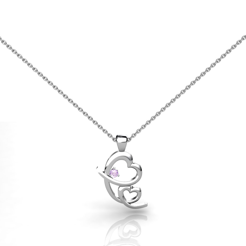Endless Mother's Love Pendant - Amethyst_image1)