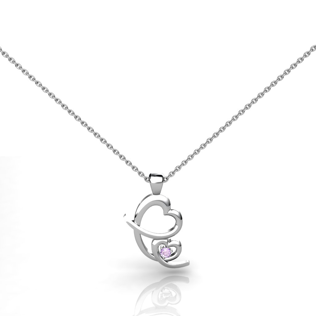 Mother's Love Pendant - Amethyst_image1)