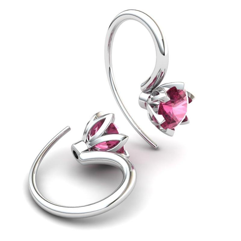 Tulip Hook Earring - Garnet_image2)