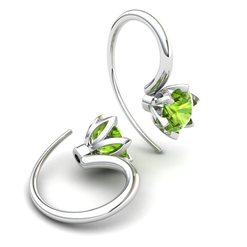 Tulip Hook Earring - Peridot_image2)