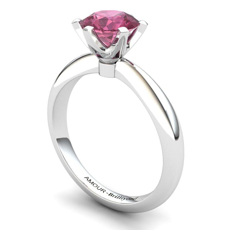 Zoie Solitaire Ring - Garnet_image1)