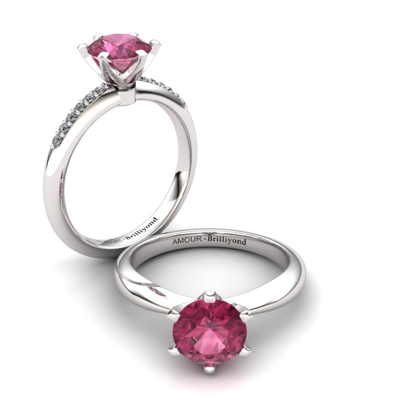 Zoie Solitaire Ring - Garnet_image3)