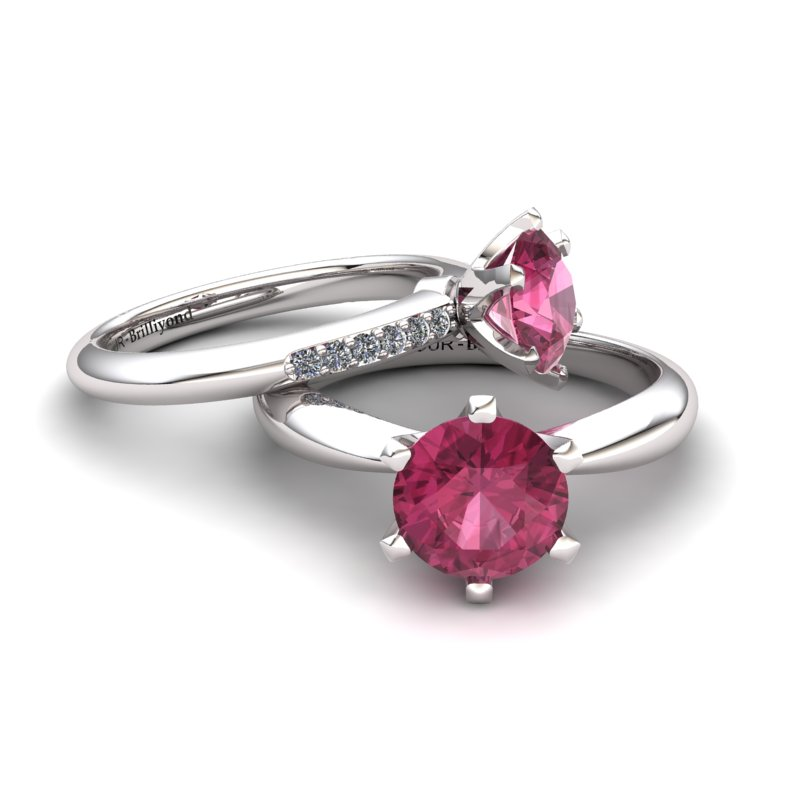 Zoie Solitaire Ring - Garnet_image4)