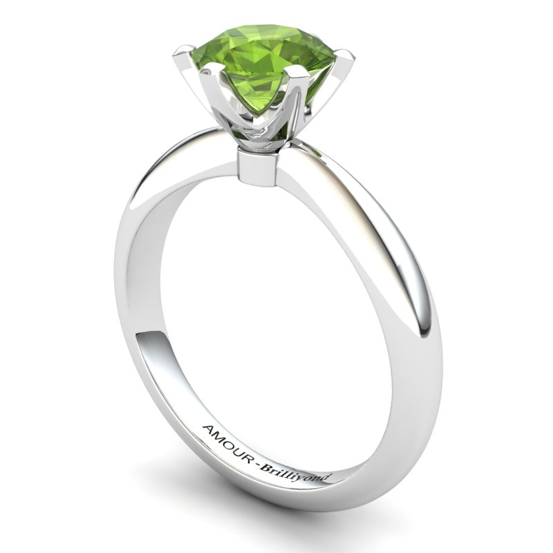 Zoie Solitaire Ring - Peridot_image1)