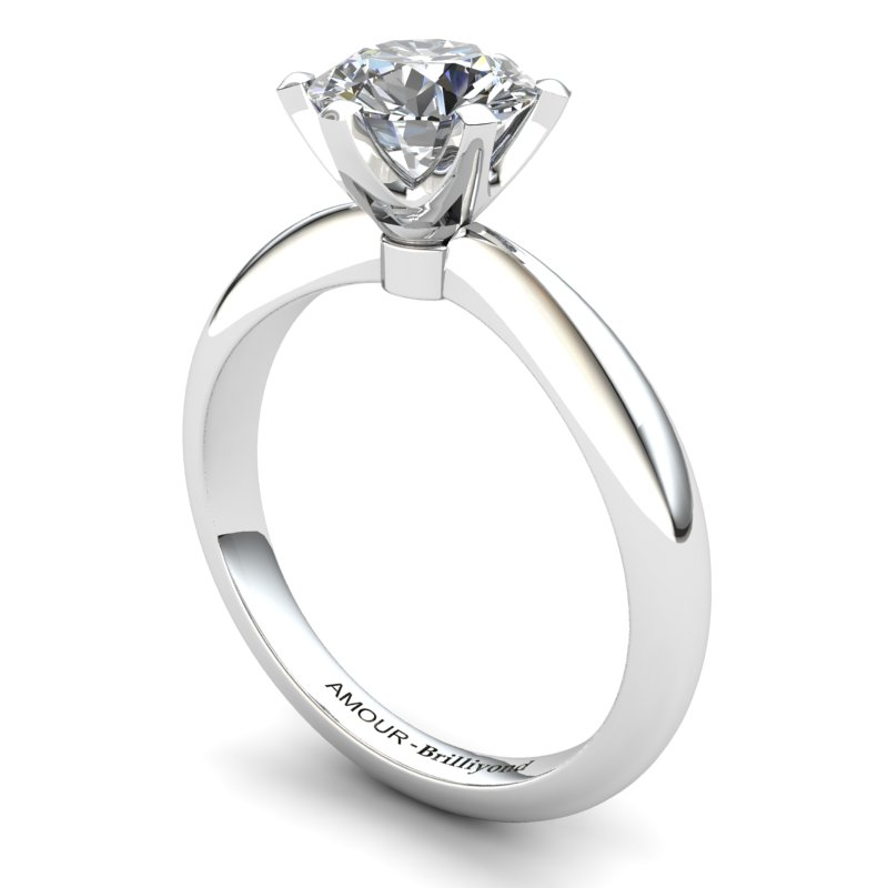 Zoie Engagement Solitaire Ring - White Zircon_image1)
