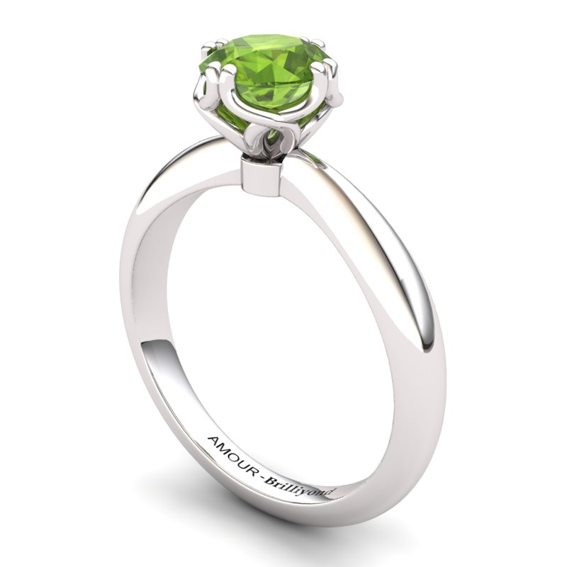 Scepter Solitaire Ring - Peridot_image1)