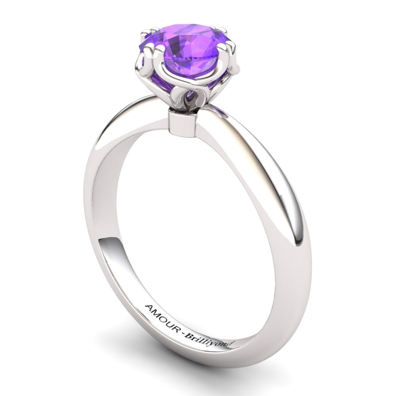 Scepter Solitaire Ring - Amethyst_image1)