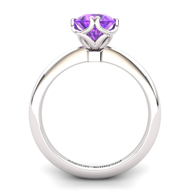 Scepter Solitaire Ring - Amethyst_image2)