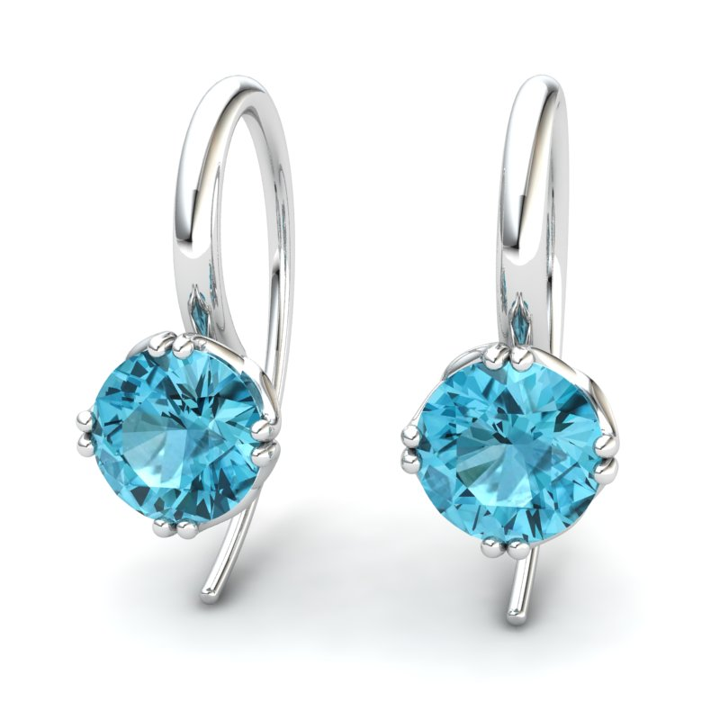 Scepter Hook Earring - Blue Topaz_image1)