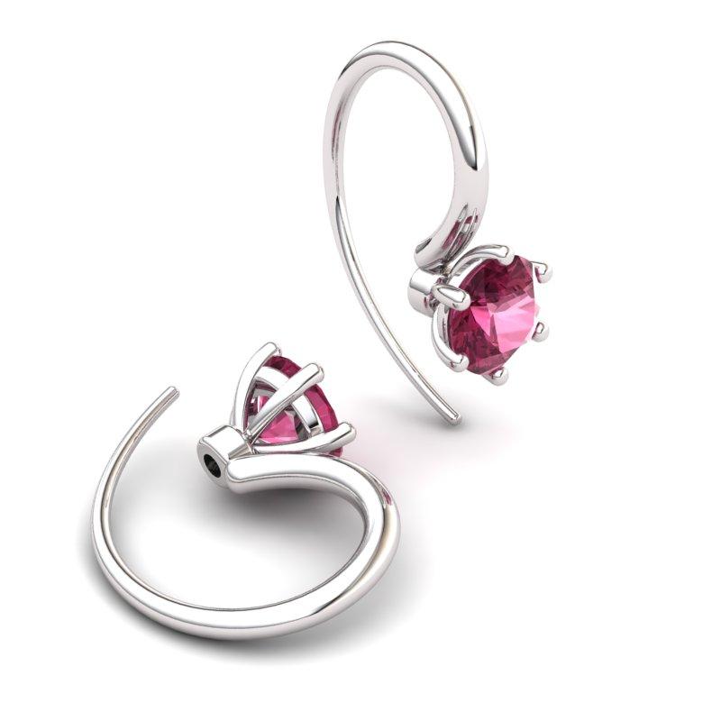 Six Prong Hook Earring - Garnet_image2)