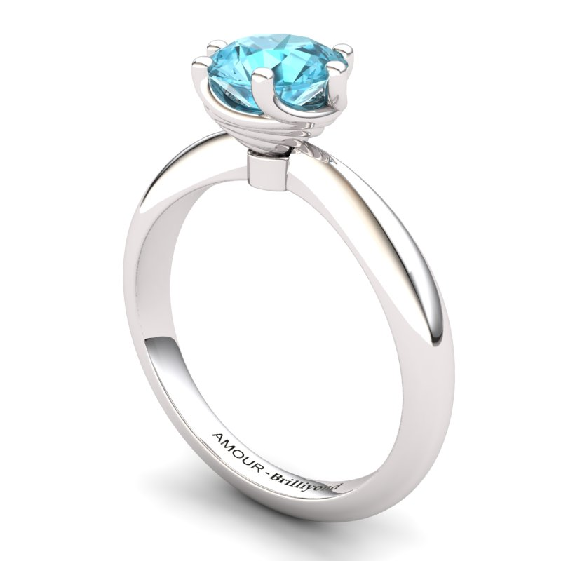Twist Collet Ring - Blue Topaz_image1)