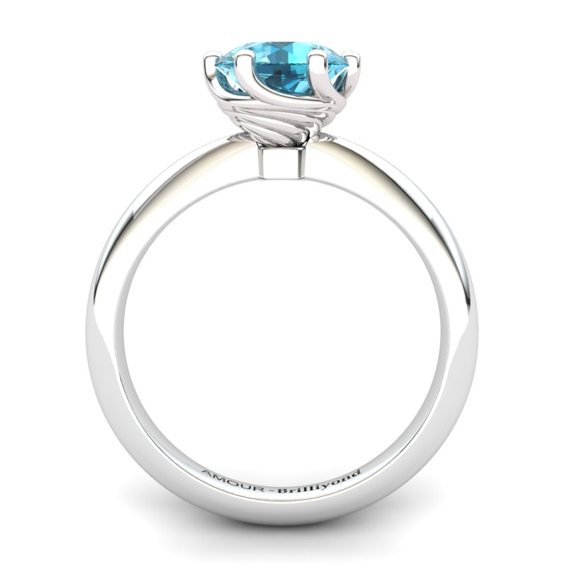 Twist Collet Ring - Blue Topaz_image2)