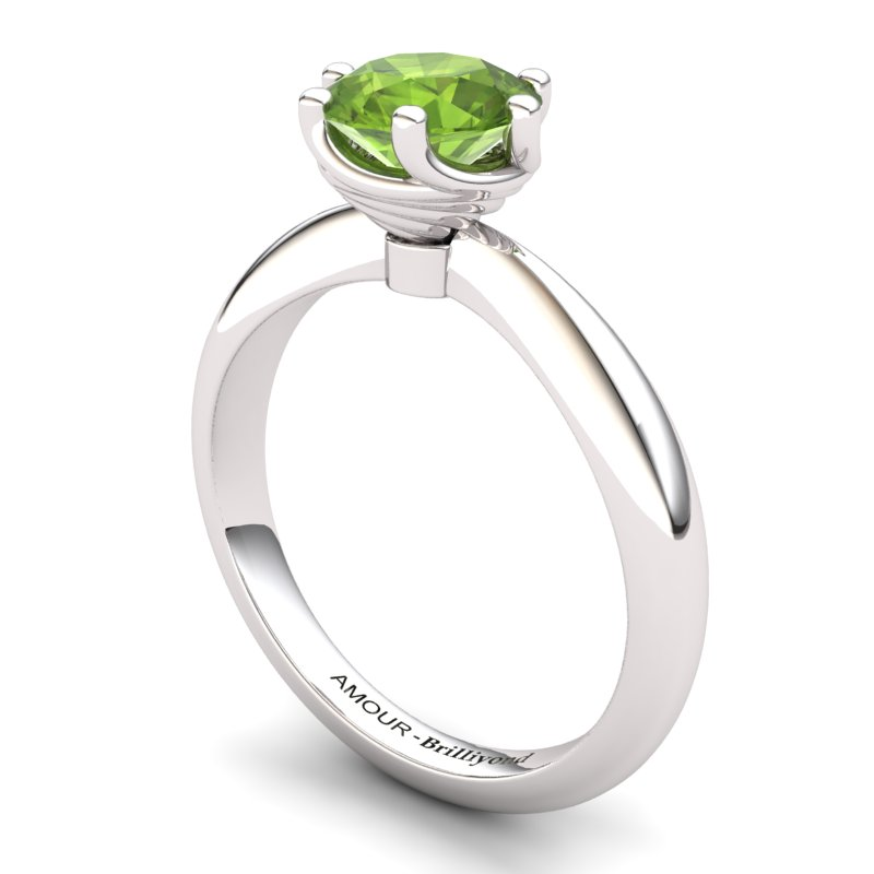 Twist Collet Ring - Peridot_image1)