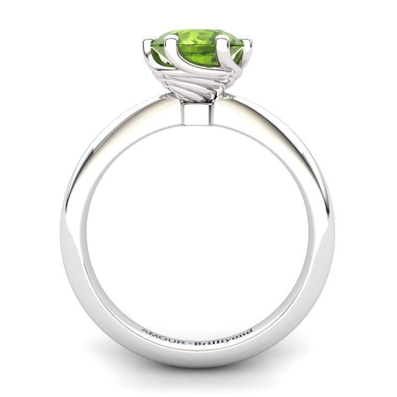 Twist Collet Ring - Peridot_image2)