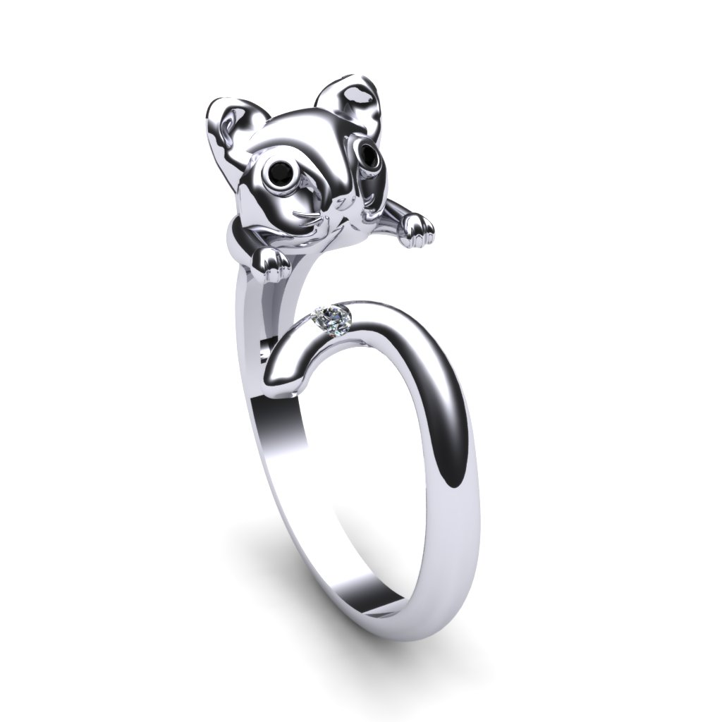 Cat Ring - Black Onyx_image1)