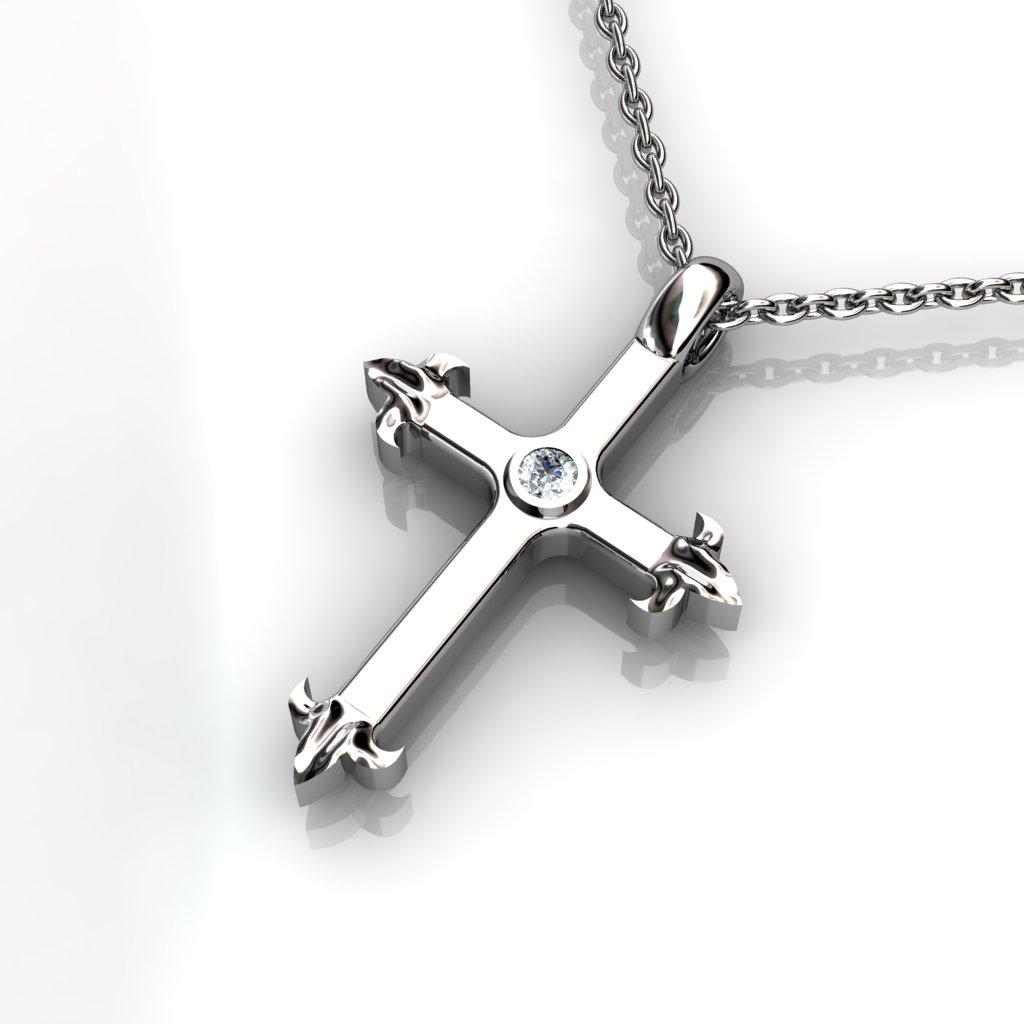 Medieval Inspired Cross Pendant - Garnet_image2)