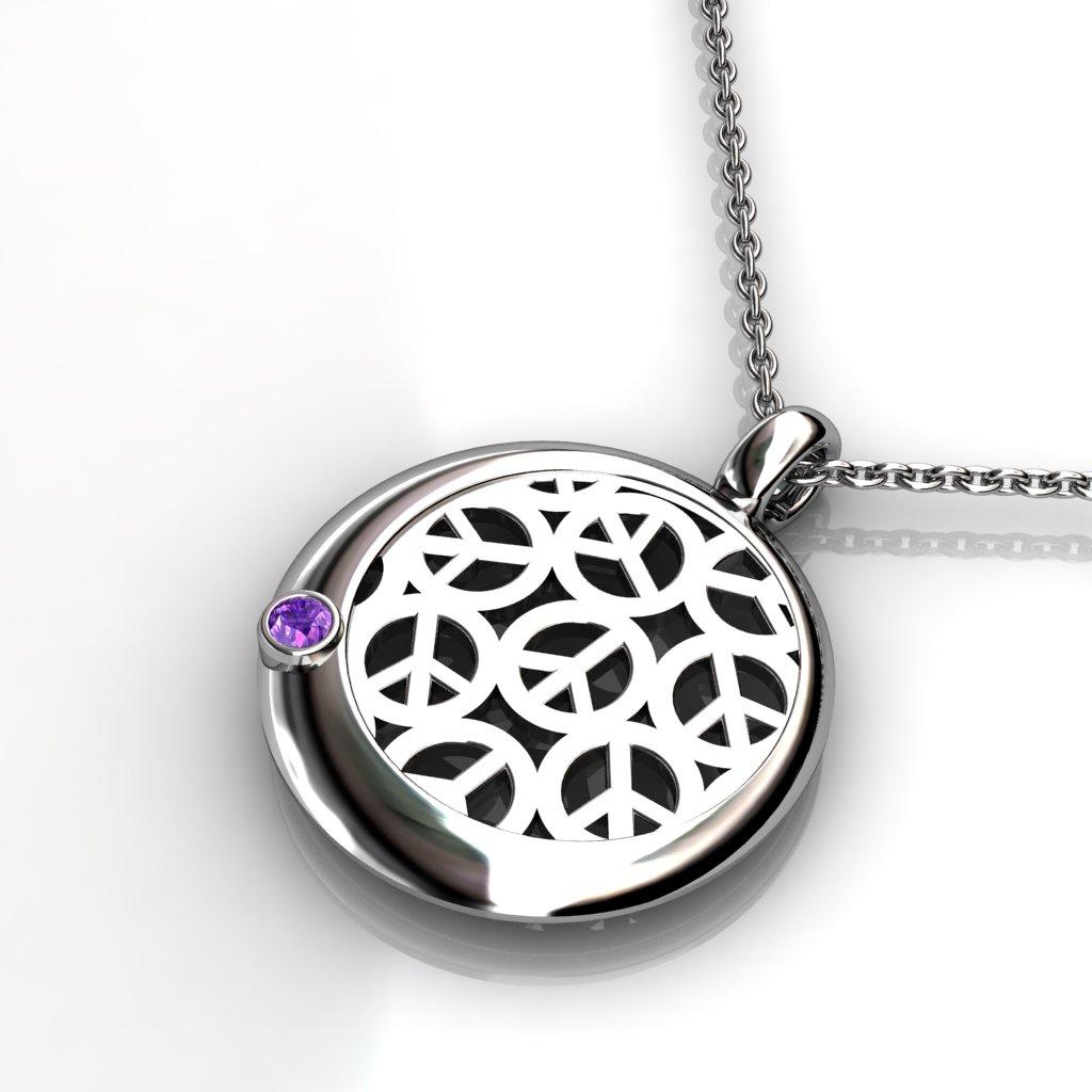 Peace Lace Pendant - Amethyst_image2)
