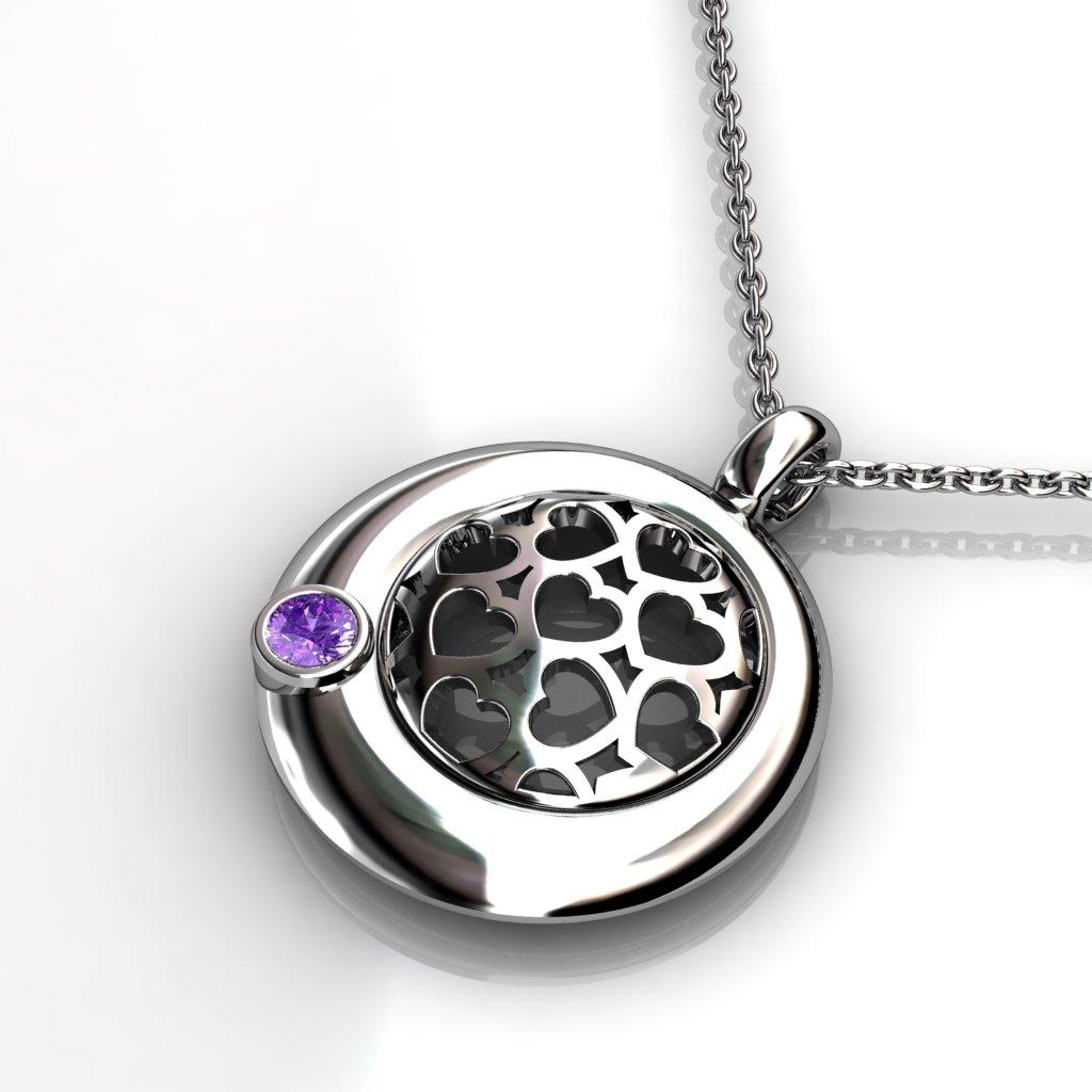 Heart Lace Pendant - Citrine_image2)