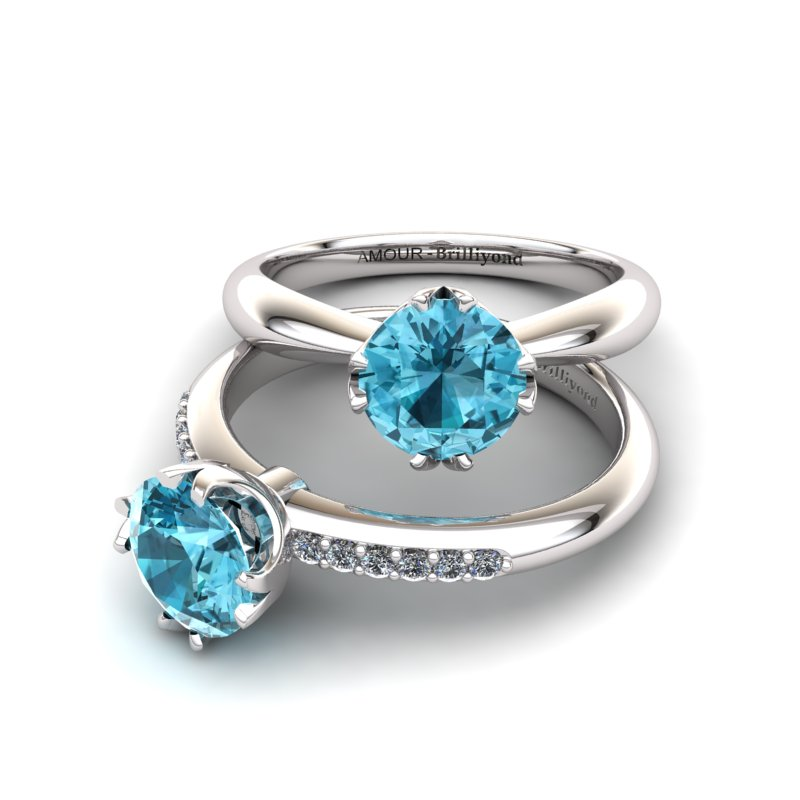 Fire Ring - Blue Topaz_image3)