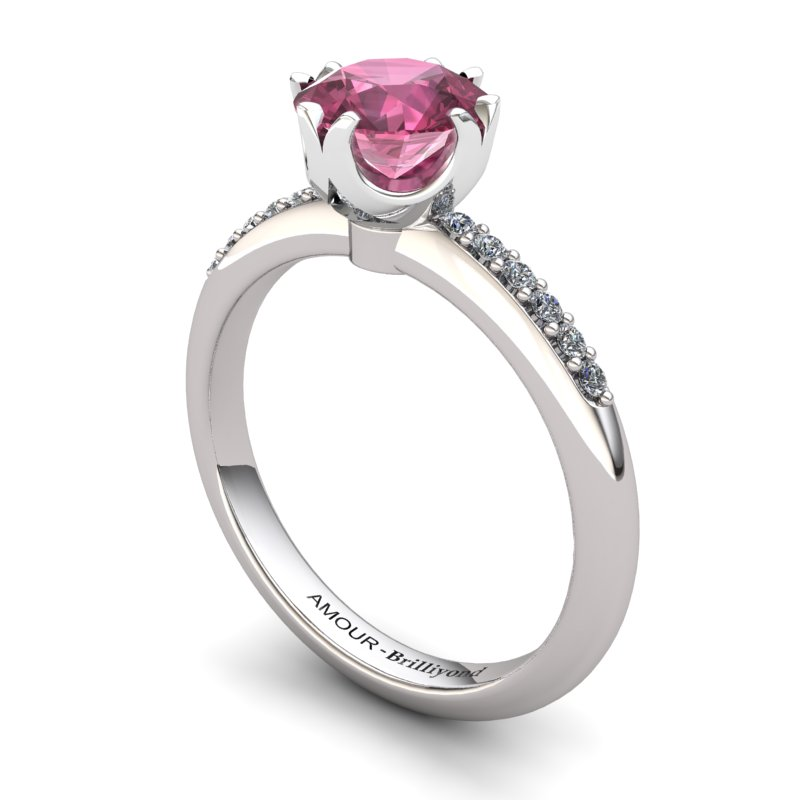Fire Ring with Stone Band - Garnet_image1)
