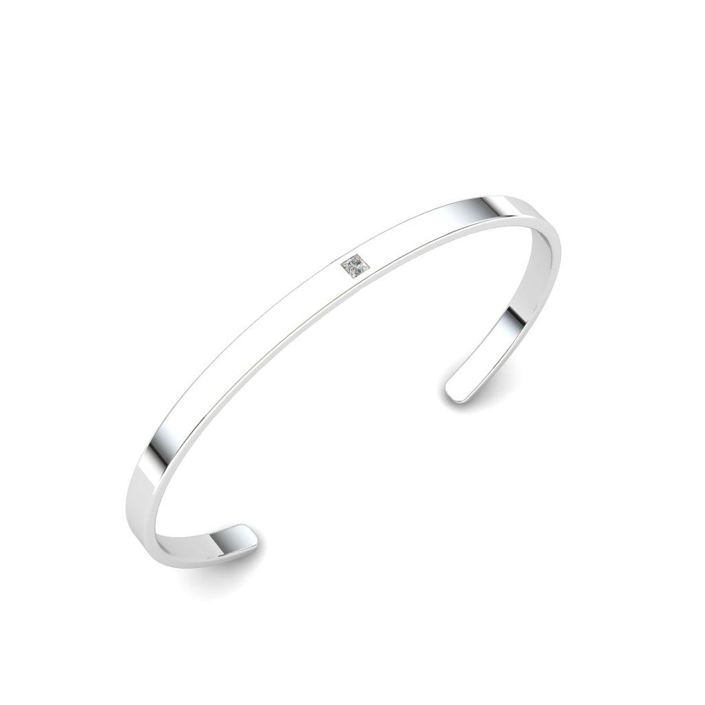 Single Stone Cuff Bracelet_image1)