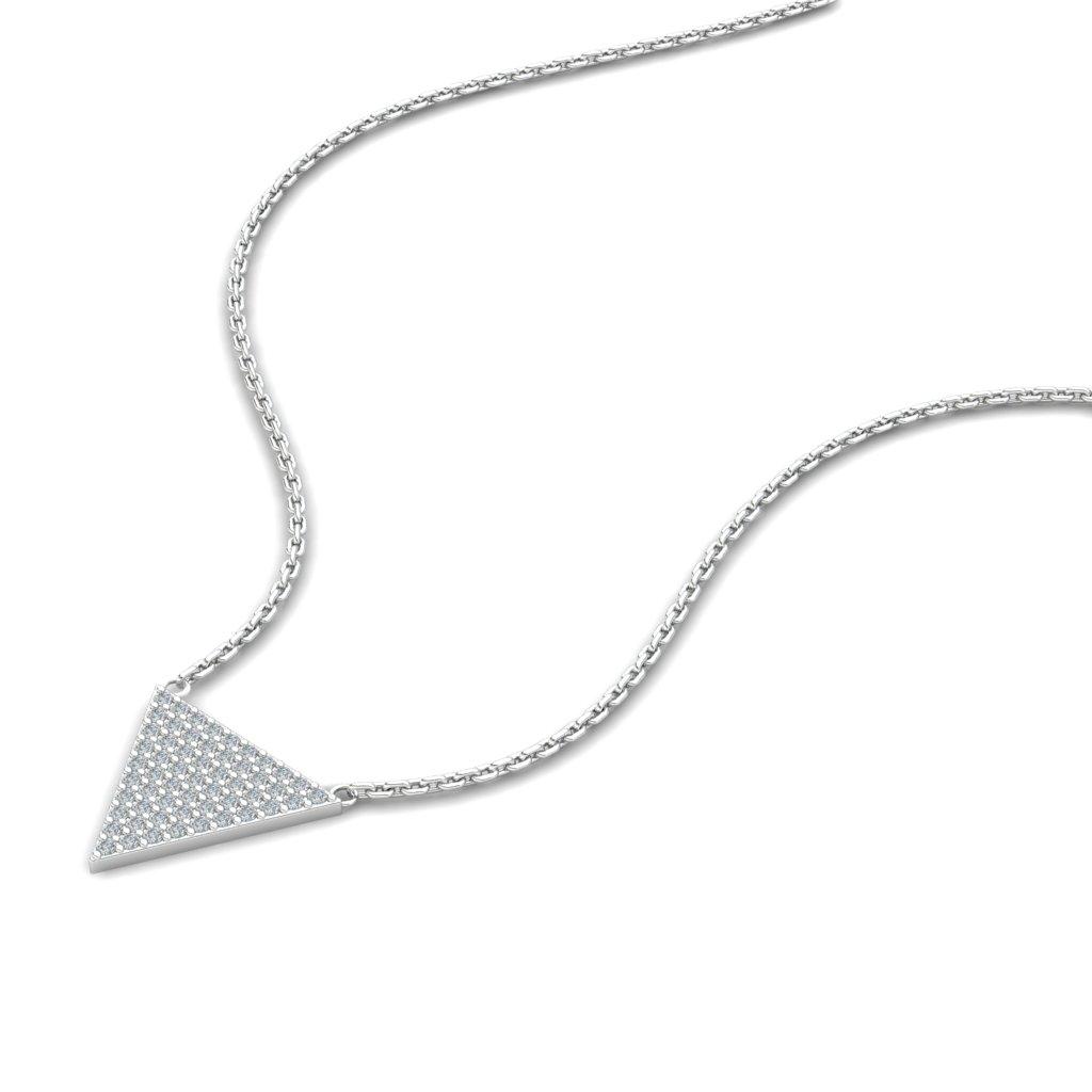 Zircon Triangle Pendant_image2)